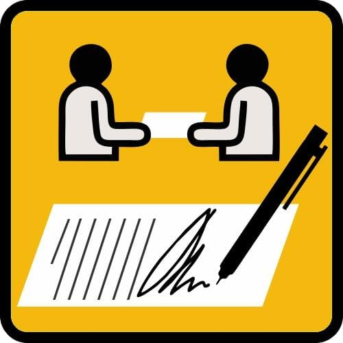 ký hợp đồng